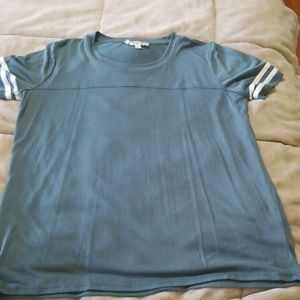 Teal/grey top